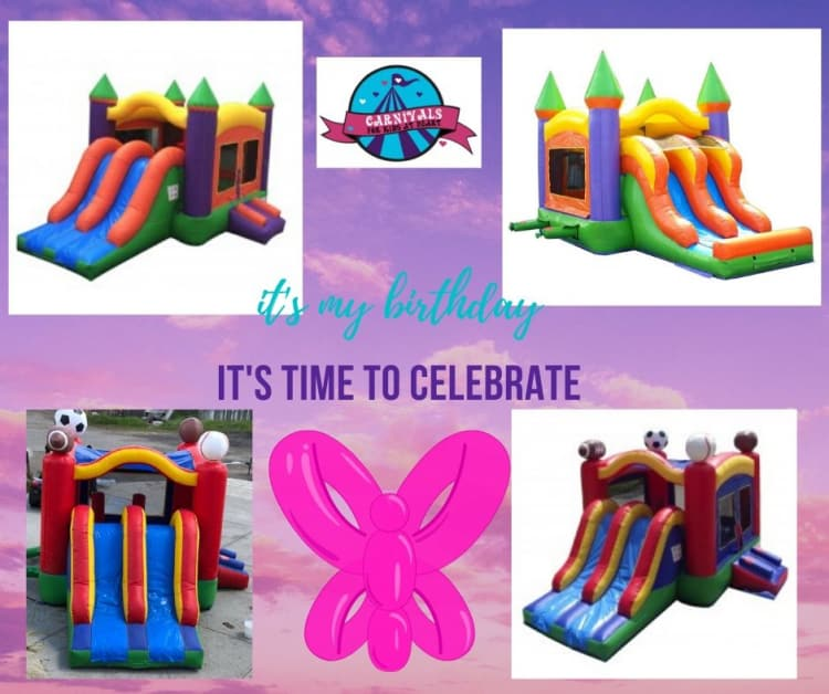Bounce house - with slide (as below)