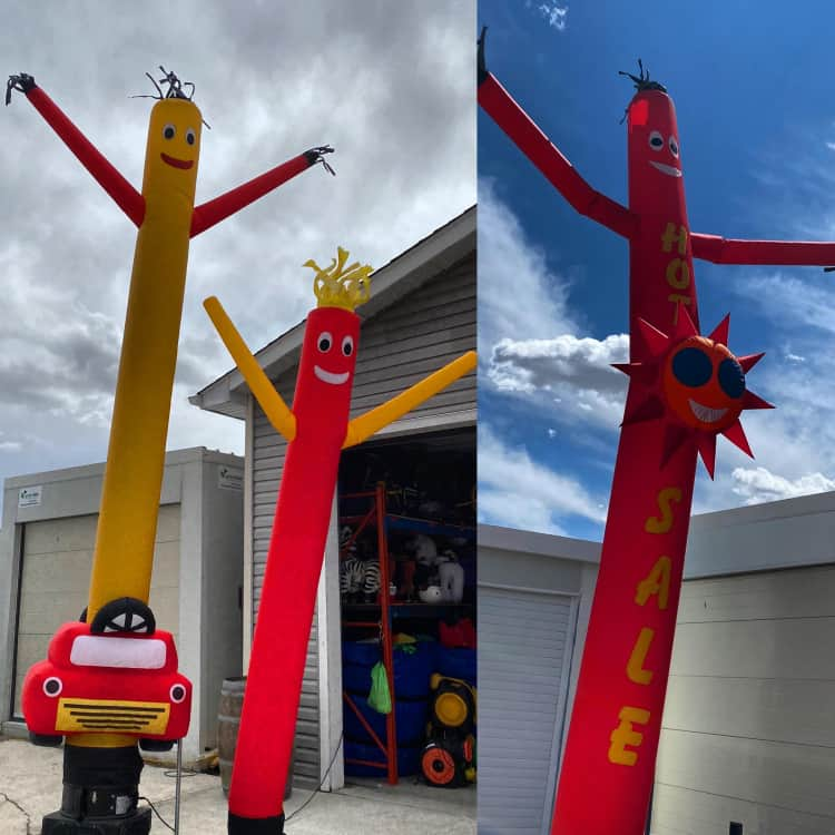 Air Dancer - 15 Foot - Red with Yellow Arms